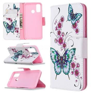 Peach Butterflies Leather Wallet Case for Huawei P Smart (2020)