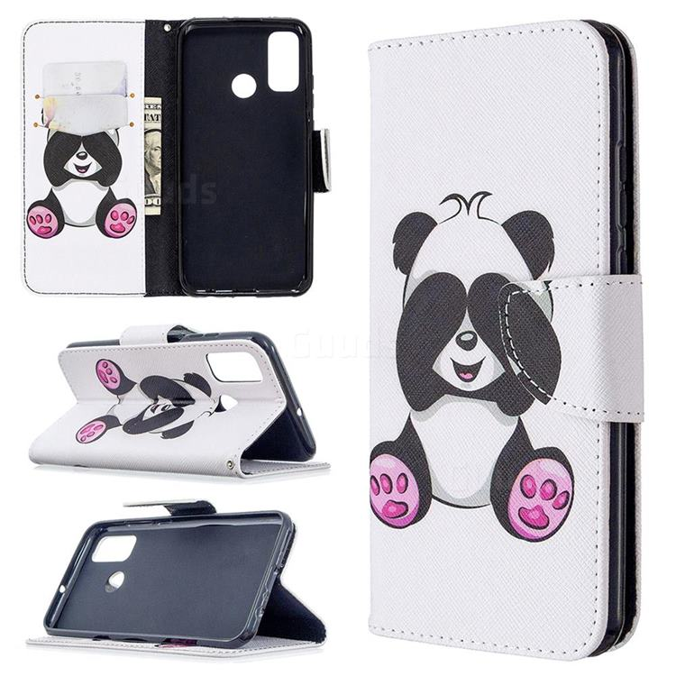 Lovely Panda Leather Wallet Case for Huawei P Smart (2020)