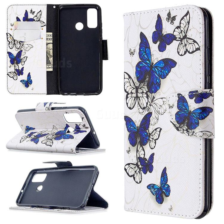 Flying Butterflies Leather Wallet Case for Huawei P Smart (2020)