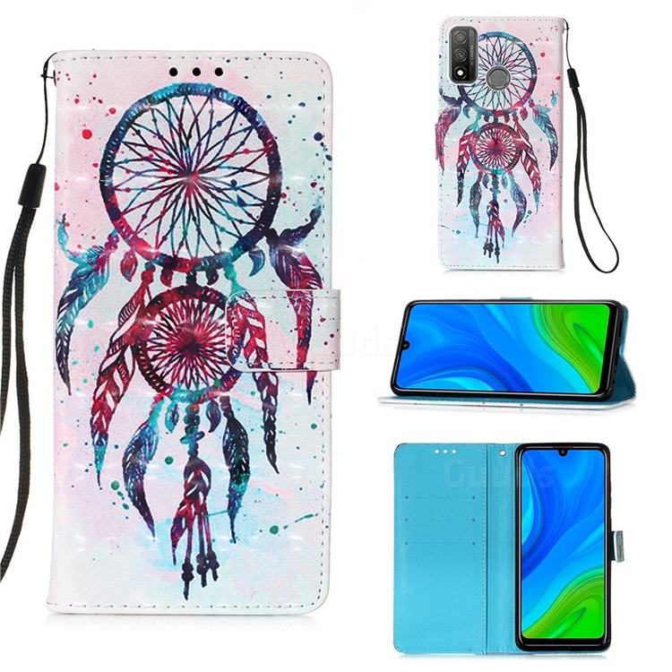 ColorDrops Wind Chimes 3D Painted Leather Wallet Case for Huawei P Smart (2020)