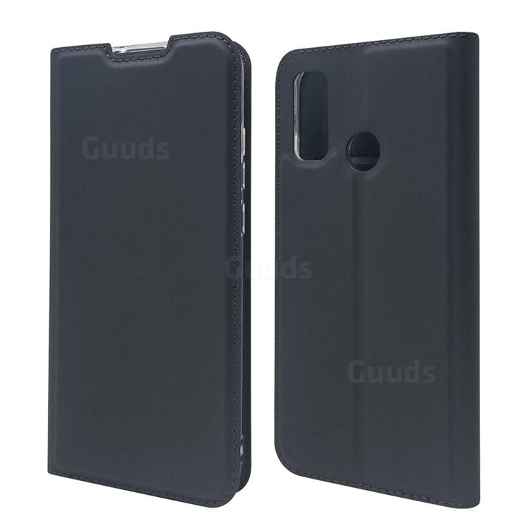 Ultra Slim Card Magnetic Automatic Suction Leather Wallet Case for Huawei P Smart (2020) - Star Grey