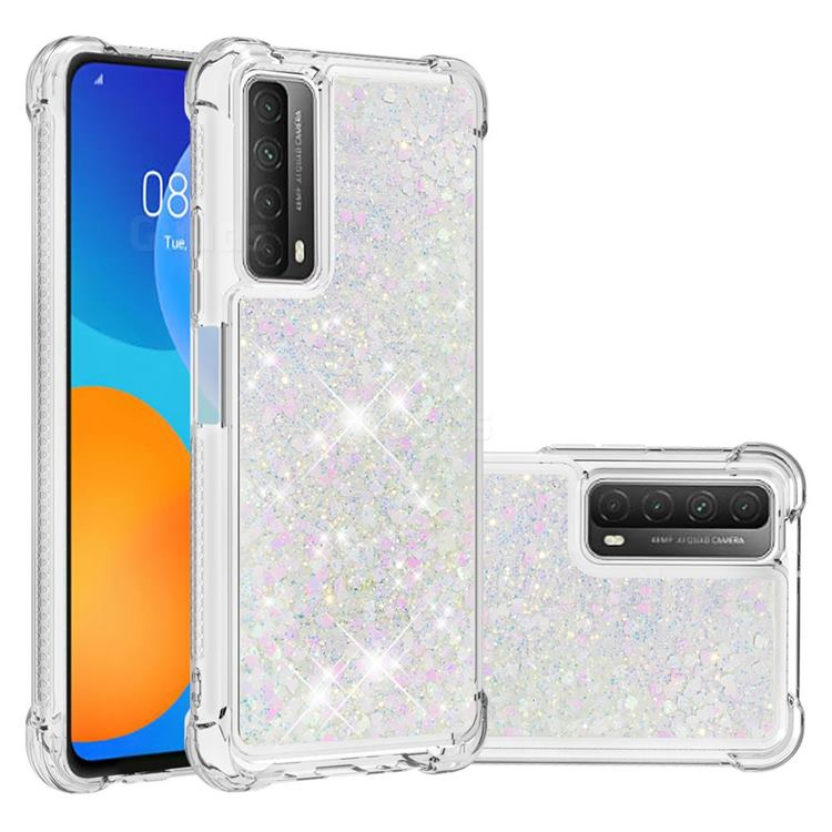 Dynamic Liquid Glitter Sand Quicksand Star TPU Case for Huawei P smart 2021 / Y7a - Pink