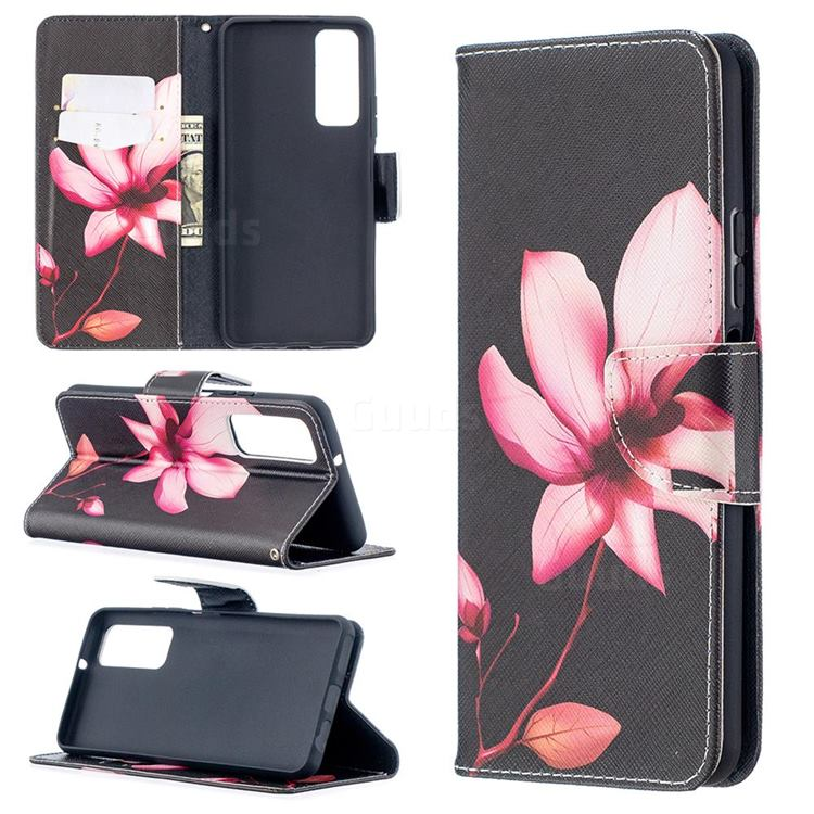 Lotus Flower Leather Wallet Case for Huawei P smart 2021 / Y7a