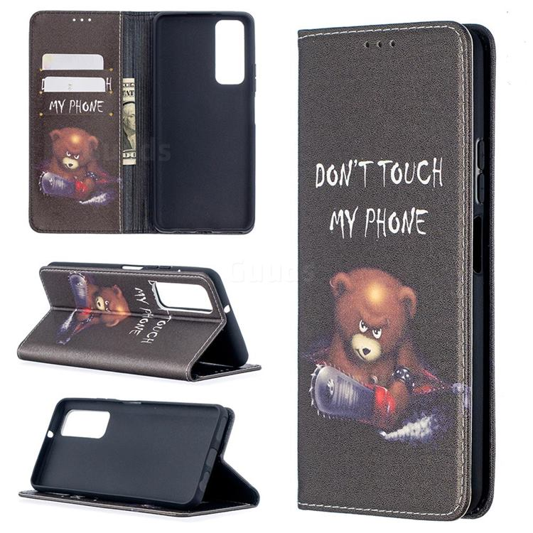 Chainsaw Bear Slim Magnetic Attraction Wallet Flip Cover for Huawei P smart 2021 / Y7a