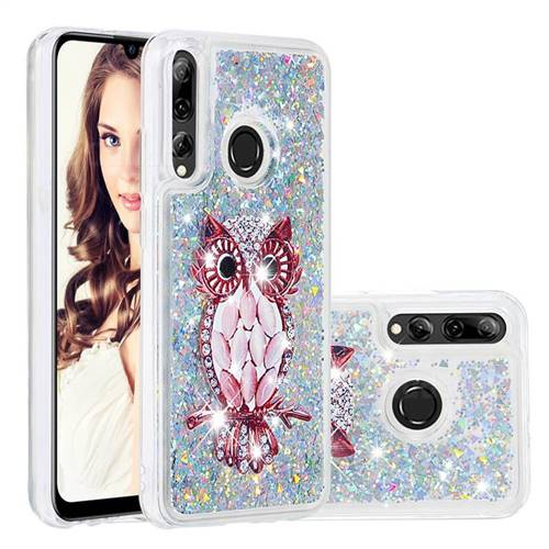 Seashell Owl Dynamic Liquid Glitter Quicksand Soft TPU Case for Huawei P Smart+ (2019)