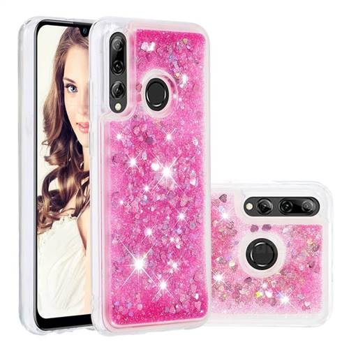 Dynamic Liquid Glitter Quicksand Sequins TPU Phone Case for Huawei P Smart+ (2019) - Rose