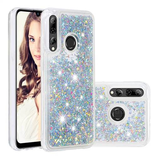 Dynamic Liquid Glitter Quicksand Sequins TPU Phone Case for Huawei P Smart+ (2019) - Silver