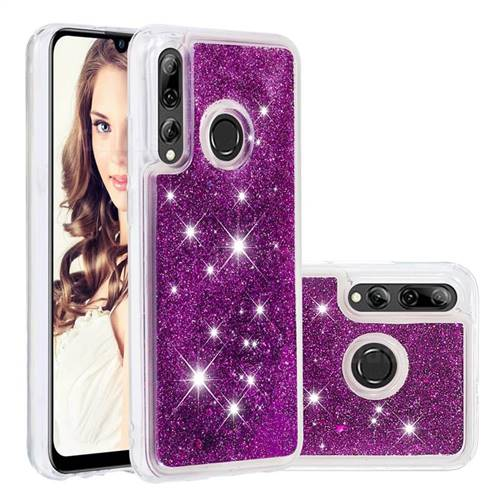 Dynamic Liquid Glitter Quicksand Sequins TPU Phone Case for Huawei P Smart+ (2019) - Purple
