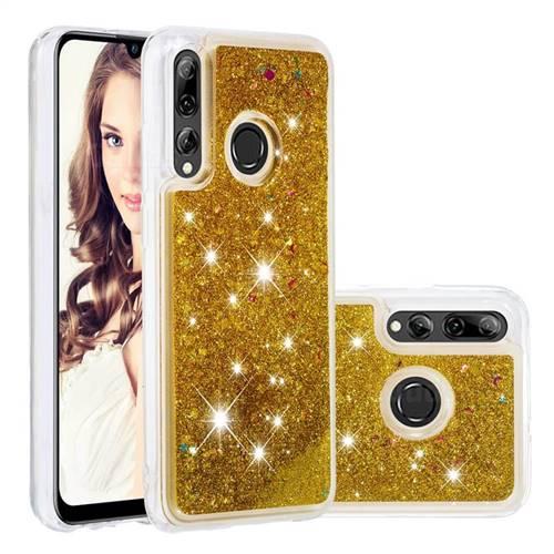 Dynamic Liquid Glitter Quicksand Sequins TPU Phone Case for Huawei P Smart+ (2019) - Golden