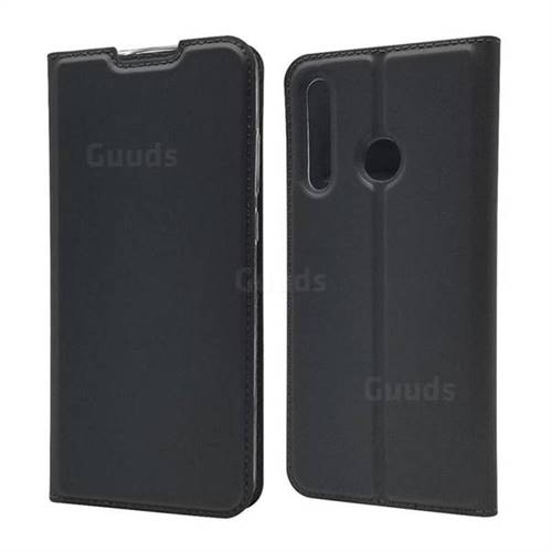 Ultra Slim Card Magnetic Automatic Suction Leather Wallet Case for Huawei P Smart+ (2019) - Star Grey