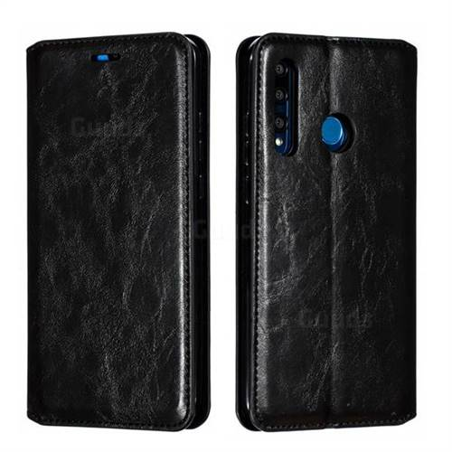 Retro Slim Magnetic Crazy Horse PU Leather Wallet Case for Huawei P Smart+ (2019) - Black