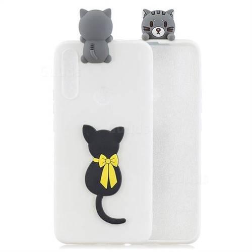 Little Black Cat Soft 3D Climbing Doll Soft Case for Huawei P Smart Z (2019)