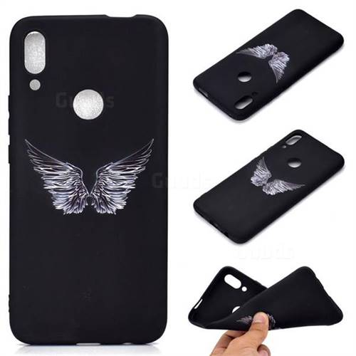 Wings Chalk Drawing Matte Black TPU Phone Cover for Huawei P Smart Z (2019)