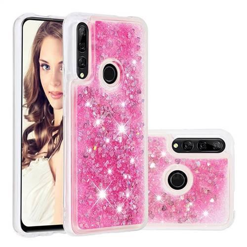Dynamic Liquid Glitter Quicksand Sequins TPU Phone Case for Huawei P Smart Z (2019) - Rose