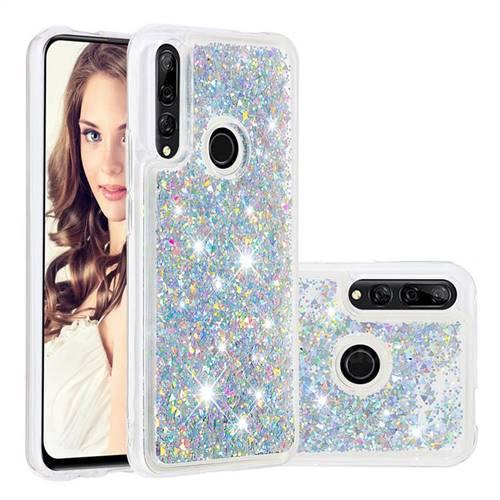 Dynamic Liquid Glitter Quicksand Sequins TPU Phone Case for Huawei P Smart Z (2019) - Silver