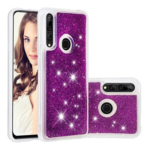 Dynamic Liquid Glitter Quicksand Sequins TPU Phone Case for Huawei P Smart Z (2019) - Purple