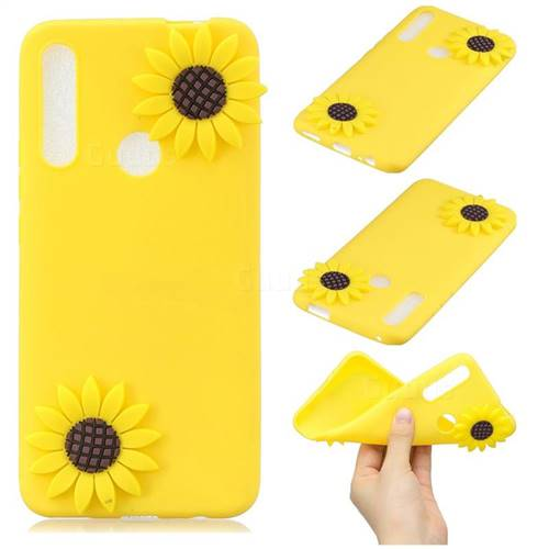 Yellow Sunflower Soft 3D Silicone Case for Huawei P Smart Z (2019)
