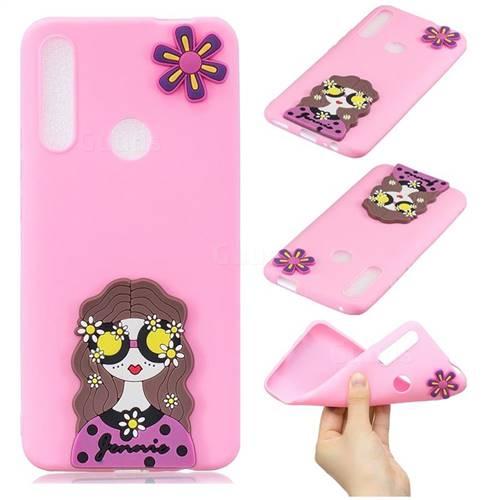 Violet Girl Soft 3D Silicone Case for Huawei P Smart Z (2019)
