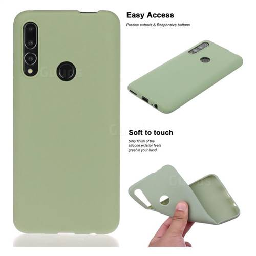 Soft Matte Silicone Phone Cover for Huawei P Smart Z (2019) - Bean Green