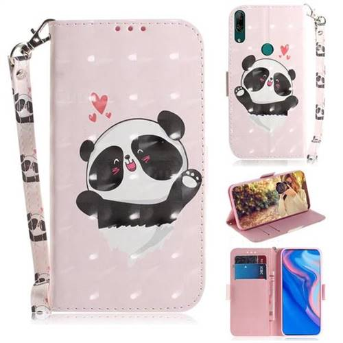 Heart Cat 3D Painted Leather Wallet Phone Case for Huawei P Smart Z (2019)