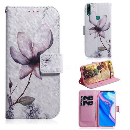 Magnolia Flower PU Leather Wallet Case for Huawei P Smart Z (2019)