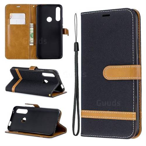 Jeans Cowboy Denim Leather Wallet Case for Huawei P Smart Z (2019) - Black