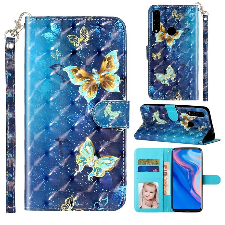 Rankine Butterfly 3D Leather Phone Holster Wallet Case for Huawei P Smart Z (2019)