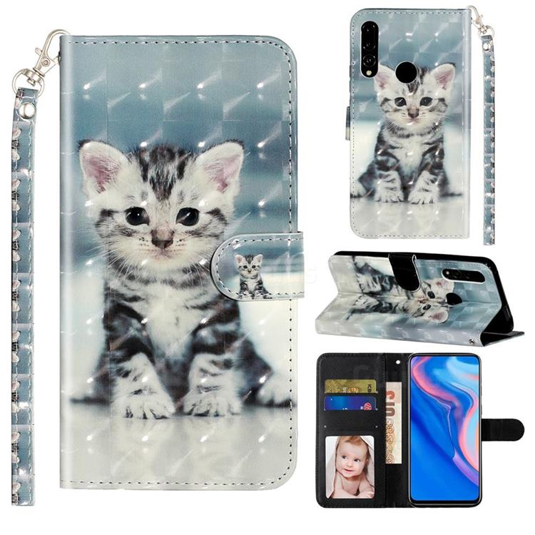 Kitten Cat 3D Leather Phone Holster Wallet Case for Huawei P Smart Z (2019)