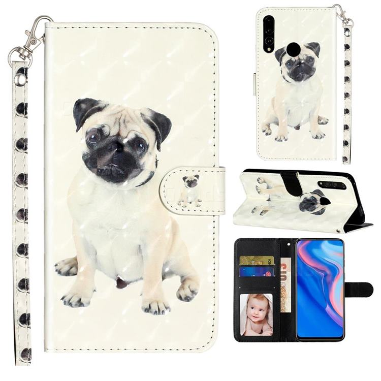 Pug Dog 3D Leather Phone Holster Wallet Case for Huawei P Smart Z (2019)