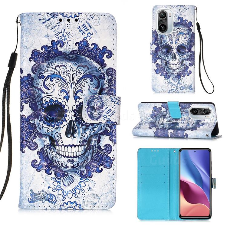 Cloud Kito 3D Painted Leather Wallet Case for Xiaomi Redmi K40 / K40 Pro