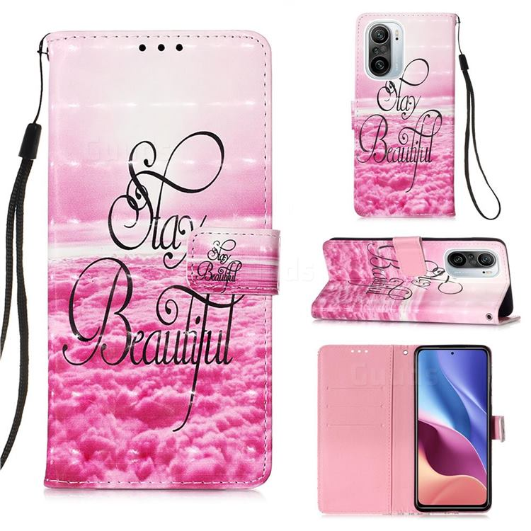 Beautiful 3D Painted Leather Wallet Case for Xiaomi Redmi K40 / K40 Pro