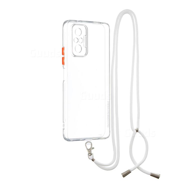 Necklace Cross-body Lanyard Strap Cord Phone Case Cover for Xiaomi Redmi Note 10 Pro / Note 10 Pro Max - Transparent