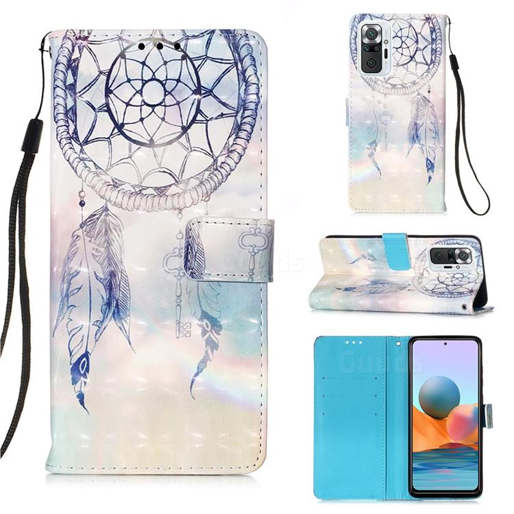 Fantasy Campanula 3D Painted Leather Wallet Case for Xiaomi Redmi Note 10 Pro / Note 10 Pro Max