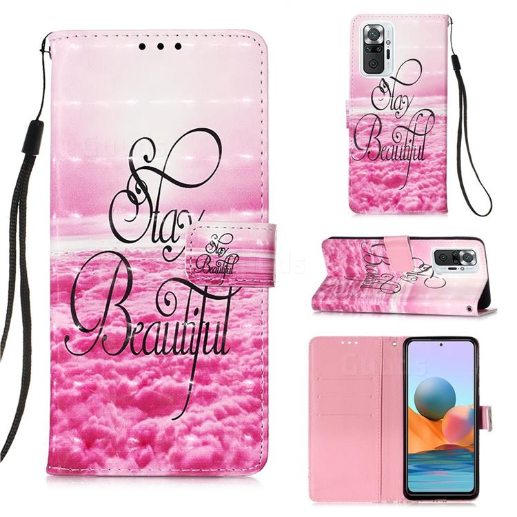 Beautiful 3D Painted Leather Wallet Case for Xiaomi Redmi Note 10 Pro / Note 10 Pro Max