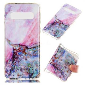 Purple Amber Soft TPU Marble Pattern Phone Case for Samsung Galaxy S10 (6.1 inch)