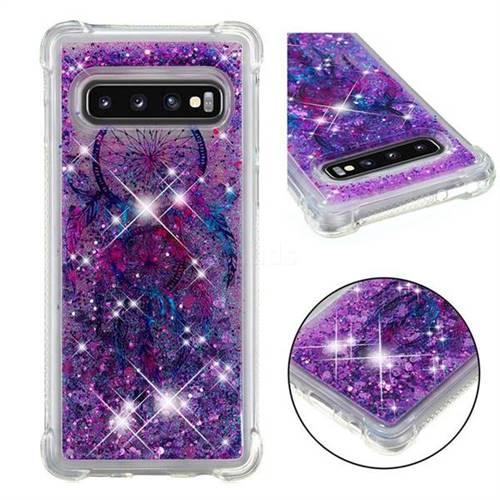 Retro Wind Chimes Dynamic Liquid Glitter Sand Quicksand Star TPU Case for Samsung Galaxy S10 (6.1 inch)