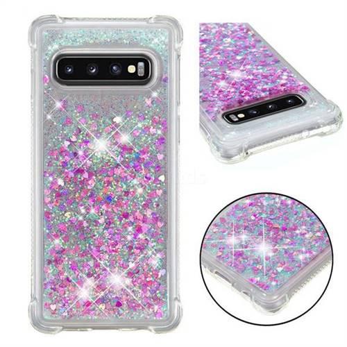 Dynamic Liquid Glitter Sand Quicksand Star TPU Case for Samsung Galaxy S10 (6.1 inch) - Rose