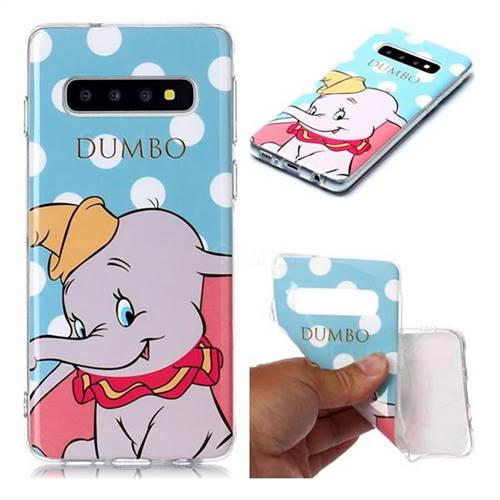 Dumbo Elephant Soft TPU Cell Phone Back Cover for Samsung Galaxy S10 (6.1 inch)