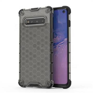 Honeycomb TPU + PC Hybrid Armor Shockproof Case Cover for Samsung Galaxy S10 (6.1 inch) - Gray