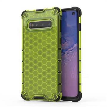 Honeycomb TPU + PC Hybrid Armor Shockproof Case Cover for Samsung Galaxy S10 (6.1 inch) - Green