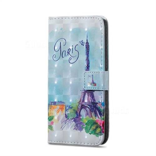 Paris Tower 3D Painted Leather Phone Wallet Case for Samsung Galaxy S10  (6 1 inch)
