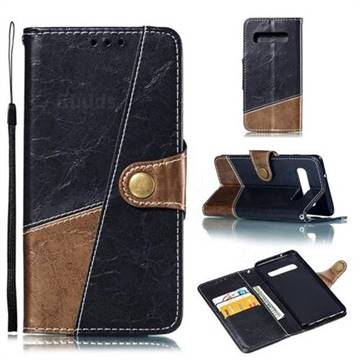 Retro Magnetic Stitching Wallet Flip Cover for Samsung Galaxy S10 (6.1 inch) - Dark Gray