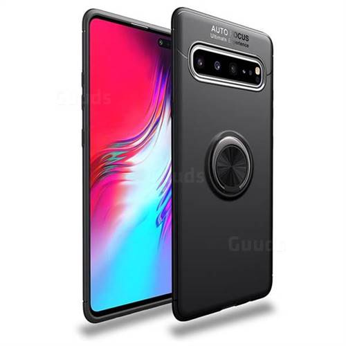Auto Focus Invisible Ring Holder Soft Phone Case for Samsung Galaxy S10 5G (6.7 inch) - Black