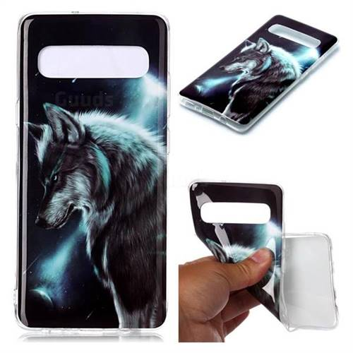 Fierce Wolf Soft TPU Cell Phone Back Cover for Samsung Galaxy S10 5G (6.7 inch)