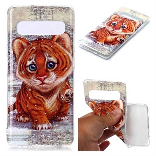 Cute Tiger Baby Soft TPU Cell Phone Back Cover for Samsung Galaxy S10 5G (6.7 inch)