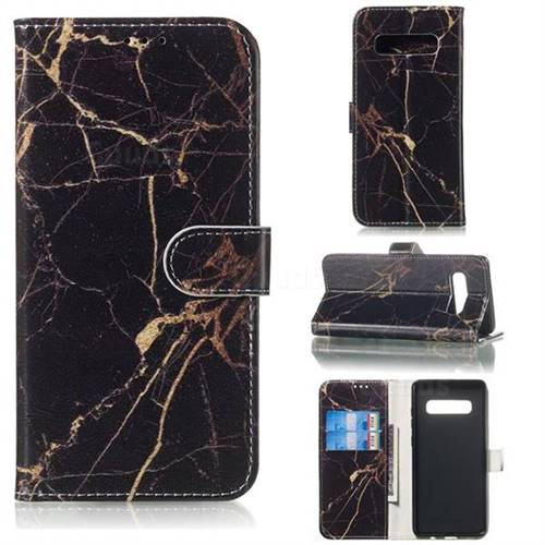 Black Gold Marble PU Leather Wallet Case for Samsung Galaxy S10 5G (6.7 inch)