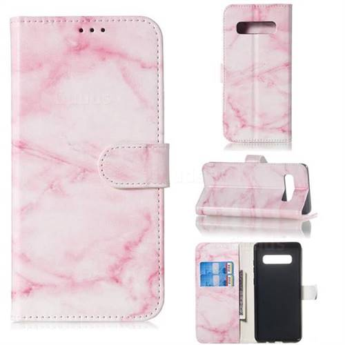 Pink Marble PU Leather Wallet Case for Samsung Galaxy S10 5G (6.7 inch)