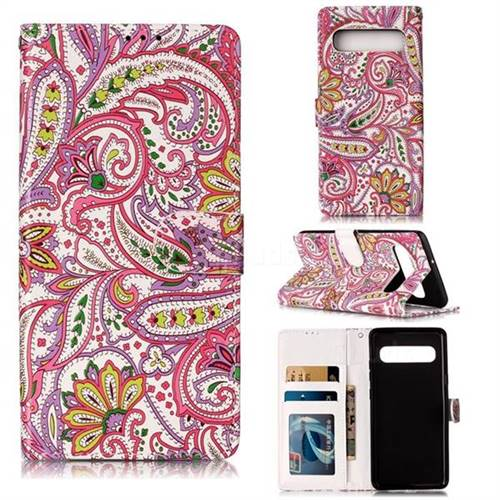 Pepper Flowers 3D Relief Oil PU Leather Wallet Case for Samsung Galaxy S10 5G (6.7 inch)