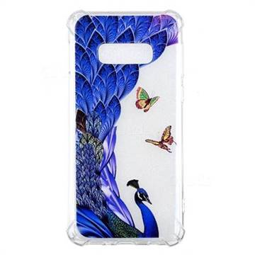 Peacock Butterfly Anti-fall Clear Varnish Soft TPU Back Cover for Samsung Galaxy S10 Lite(5.8 inch)