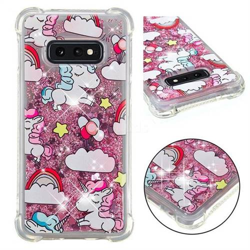 Angel Pony Dynamic Liquid Glitter Sand Quicksand Star TPU Case for Samsung Galaxy S10e (5.8 inch)